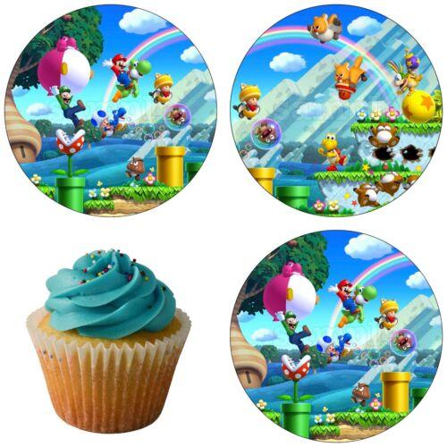 Super Mario Bross U Deluxe Tortendeko Tortenaufleger Party Deko Muffin Neu game