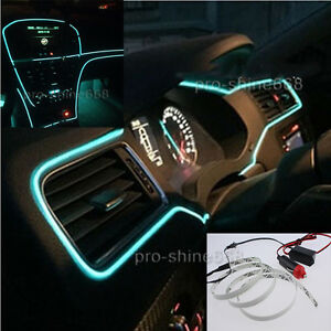 3m car interior trim door panel glow decor atmosphere cold strip light for ford 707427233003 ebay. Black Bedroom Furniture Sets. Home Design Ideas
