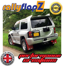 Rally Mudflaps Mitsubishi Pajero Evolution Mud flaps Red Ralliart White 4mm PVC