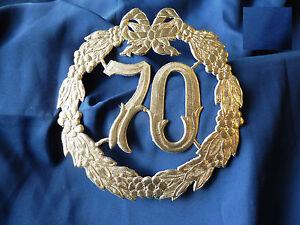 Details Zu 1 Zahl 70 Gold 24 Cm Jubiläumzahl Geburtstag Gnaden Hochzeit Krepprosen