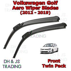 12-19-Volkswagen-Golf-Aero-Wiper-Blades-Limpiador-de-hoja-plana-Delantero-VW-Mk7
