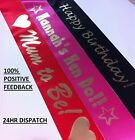 Personalised birthday sash party mum to be sashes 16th 18th 21st 30th 40th 50th