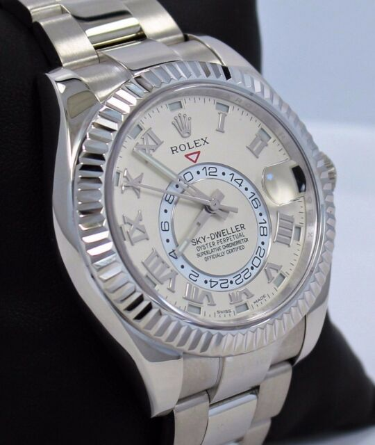 Rolex Sky,dweller 18k White Gold Oyster Perpetual Ref 326939