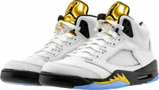 Size 18 Men's Nike Air Jordan Retro V 5 Olympic Gold White Black 136027 133