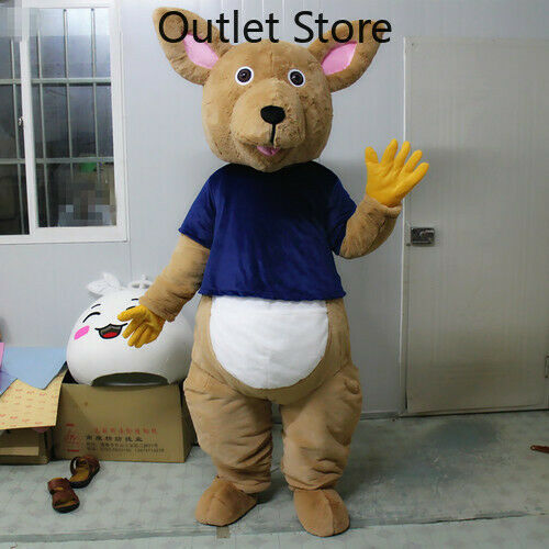 Details about  /Halloween Cartoon Brown Kangaroo Cosplay Mascot Costume Xmas Outfit Carnival