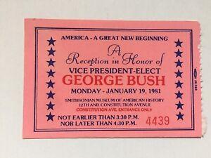 1981-Vice-President-Elect-George-Bush-Inauguration-Reception-Ticket-Stub-PINK