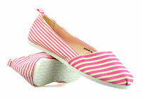Ladies Womens Slip On Casual Canvas Espadrilles Plimsolls Summer Pumps Shoe Size