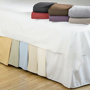 Microfiber-1500-Egyptian-Quality-Pleated-Bed-Skirt-14-034-Drop-All-Sizes-amp-Colors