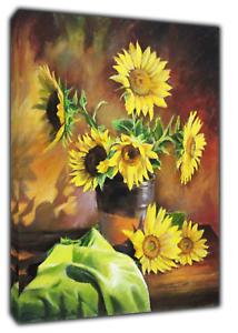 FidèLe Sunflowers Drawn Charcoal Soft Pastel Réimpression Sur Encadrée Toile Wall Art Decor-afficher Le Titre D'origine Des Performances InéGales