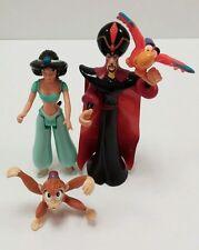 Lot of 4 Disney Aladdin PVC Figures Princess Jasmin Abu Monkey Jafar Lago Parrot