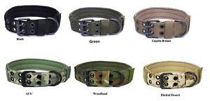 Tactical-Scorpion-Gear-Dog-Collar-Canine-K9-Training-Walking-Military-Nylon