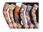 4 Pcs Fake  Temporary Tattoo Sleeves Arm Stockings Tatoo For Men Women