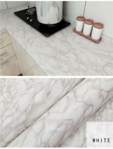 3mt Granite Marble Effect Self Adhesive Wallpaper Roll Home Kitchen Wall Sticker Ebay