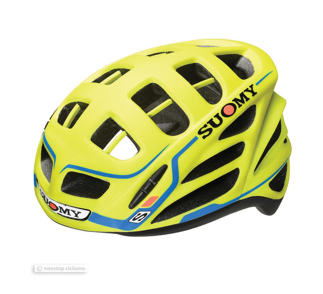 Suomy GUN WIND S-Line Road Cycling Helmet   YELLOW  MATTE blueE - Made in    online discount