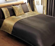 Sakkara Brown Single Duvet Cover with Curtains Pillowcase Sheet SAMEDAY DISPATCH