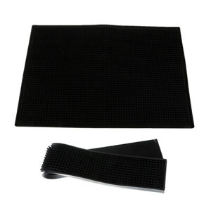 Pack 2 Rubber Bar Service Mat for Kitchen Counter Top ...