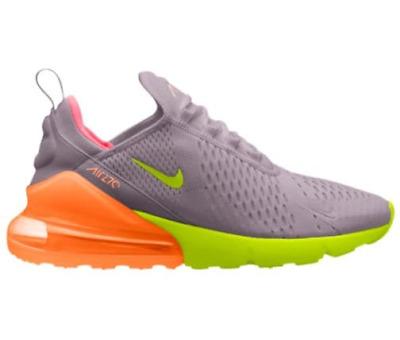 on feet shots of online retailer classic shoes Men's Nike Air Max 270 - Grey/Orange/Hot Punch - H8050012 | eBay