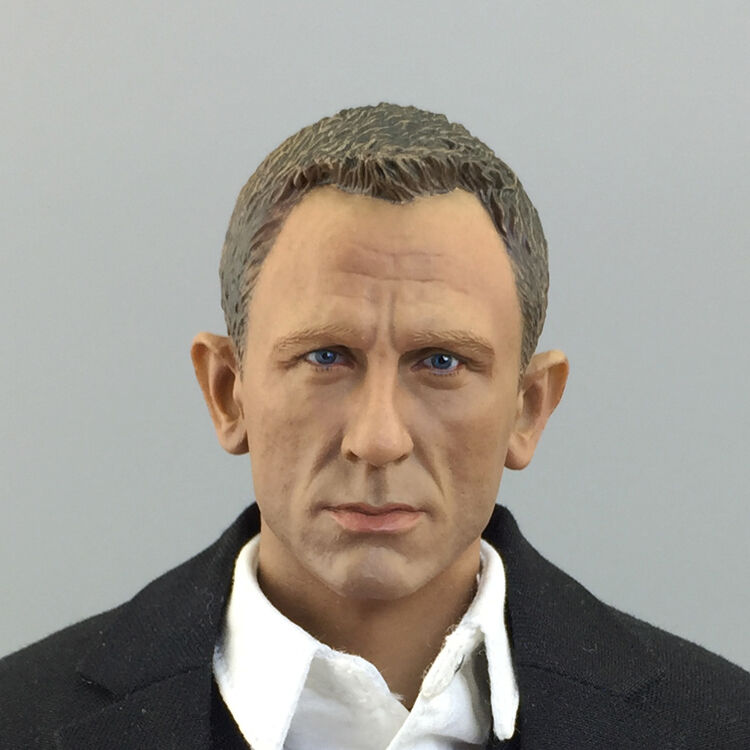NEW 1 6 James Bond 007 Agent Headplay Daniel Craig Head Scuplt