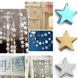 2M-4M-Star-Paper-Garland-Bunting-Banner-Party-Wedding-Baby-Shower-Decor-NEW