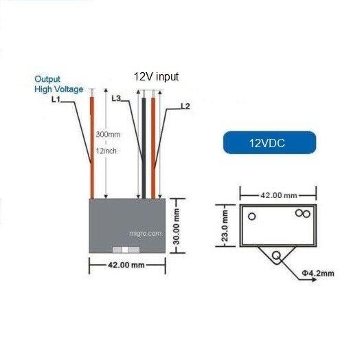 12v Negative Ion Generator 9 5kv S Steel Needle High Voltage 12vdc Plasma Mobil For Sale Online Ebay