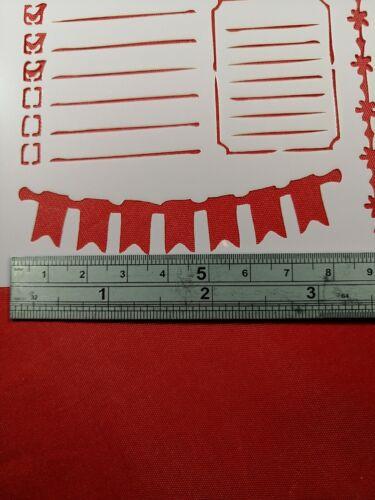 Plantilla Roadtrip símbolos formas Cardmaking Scrapbooking diario Planificador Diario