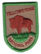 Vintage YELLOWSTONE National Park Souvenir Patch Buffalo
