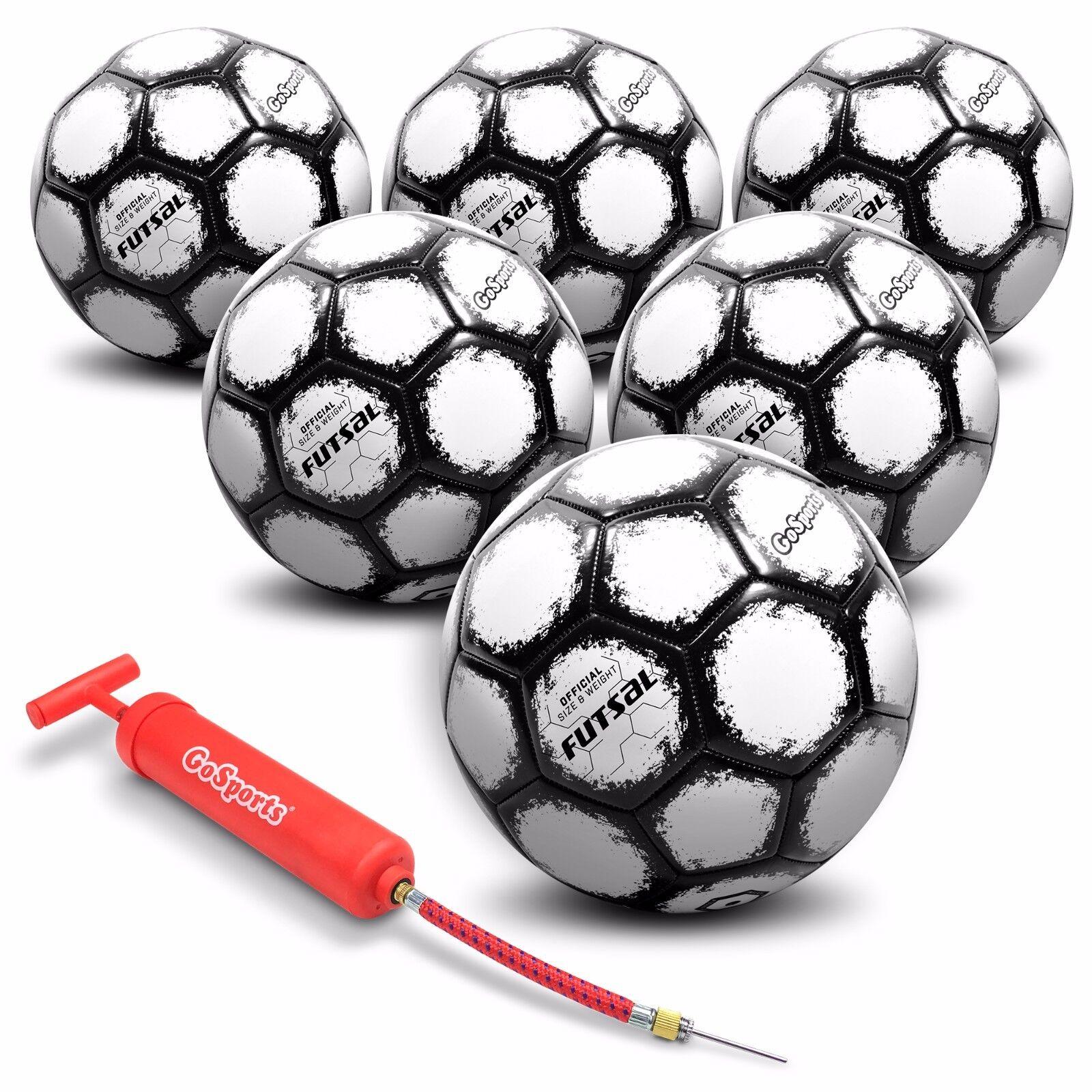 Balón De Futsal gosports  paquete de seis  Reglamento Tamaño Peso, bomba + Bolsa De Malla Incluido