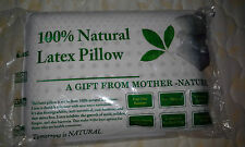 100% natural latex pillow 50*37*9 CM 1.1KG soft 100% cotton stiched inner cover