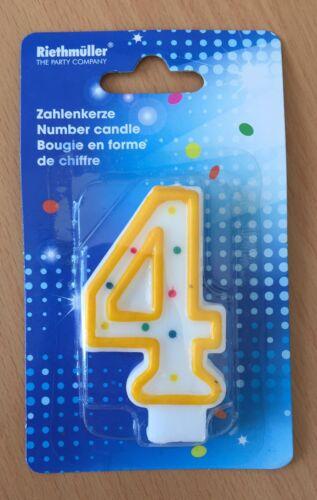 Geburtstags Kerze Zahl 4