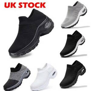 Womens-Trainers-Air-Cushion-Slip-On-Breathable-Sneakers-Sport-Running-Shoes-Pump