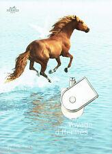 PUBLICITE ADVERTISING 1016  2011  voyage d'Hermès  parfum ( recto verso)