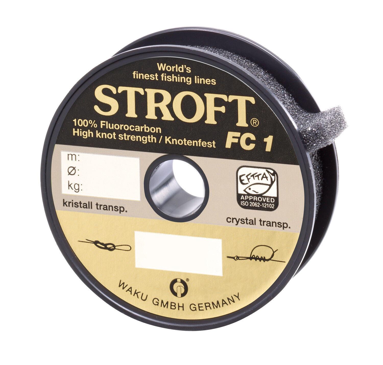 Schnur Schnur Schnur STROFT FC1 FluGoldcarbon 100m Angelschnur Vorfachschnur wenig sichtbar 7b8af7