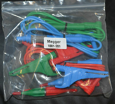 Megger 1001-991 3 Wire Test Lead Set 1500 & 1700 Series of Multifunction Testers