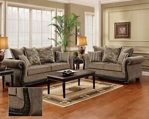 Image Is Loading Dream Java Chenille Sofa Amp Love Seat Living