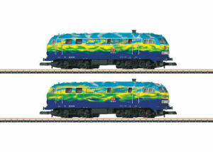 88789-Marklin-Z-scale-Double-pack-DB-AG-class-218-diesel-locomotives-034-Tourism-034
