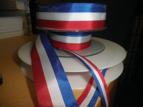 2m x PATRIOTIC STRIPE RIBBON 3 SIZES AVAILABLE RED//WHITE//BLUE