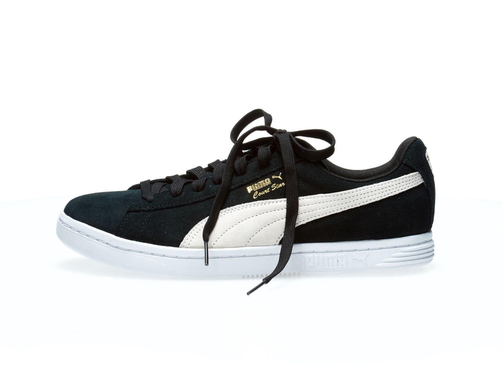 3803686e ... australia puma blanco court star suede negro blanco puma oro hombre  casuales zapatos zapatillas 364621 01