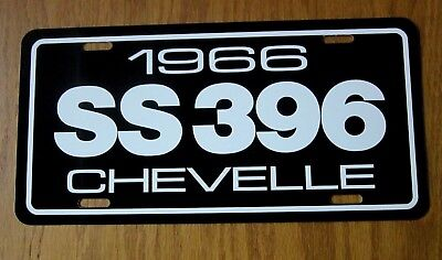 1966 SS 396 CHEVELLE Chevrolet Super Sport license plate tag 66 Chevy muscle car