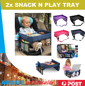 Image Is Loading 2x Baby Car Seat Lap Tray Snack N