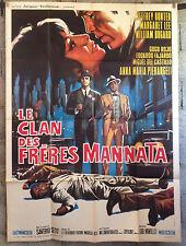 LE CLAN DES FRERES MANNATA Affiche Cinéma-Movie Poster Jeffrey Hunter-120x160