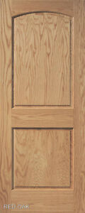 2 panel arch top raised panel red oak stain grade solid - Solid wood raised panel interior doors ...