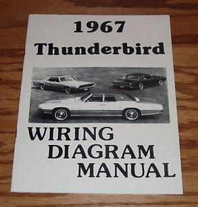1967 Ford Thunderbird Wiring Diagram Manual 67 | eBay