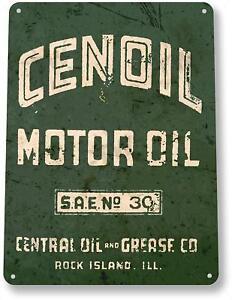 Cenoil-Motor-Oil-Gas-Oil-Garage-Auto-Shop-Rustic-Metal-Decor-Sign