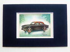 1957 Volvo 122S Amazon Sedan - Mounted Colour Vintage Car Automobile Print