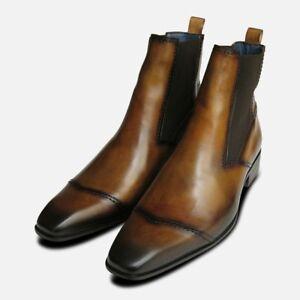 de Exceed en Bottes cuir claires brunes Bison Chelsea Y0qw4g