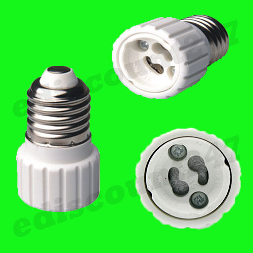 B22 to GU10 OR E14 to GU10 OR E27 to GU10 Adaptor Converter Holder LED UK STOCK