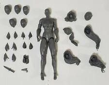 "Maven Collectibles 7/"" Deluxe Action Figure Heroine BLANK Kickstarter Marvel DC"