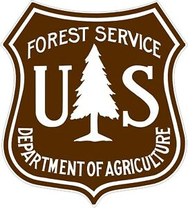 U-S-Forest-Service-Brown-and-WhiteDecals-Stickers