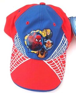 Marvel Comics Spider-Man Red Boy s Adjustable Snapback Cap Hat Free ... 51f11bd16a57