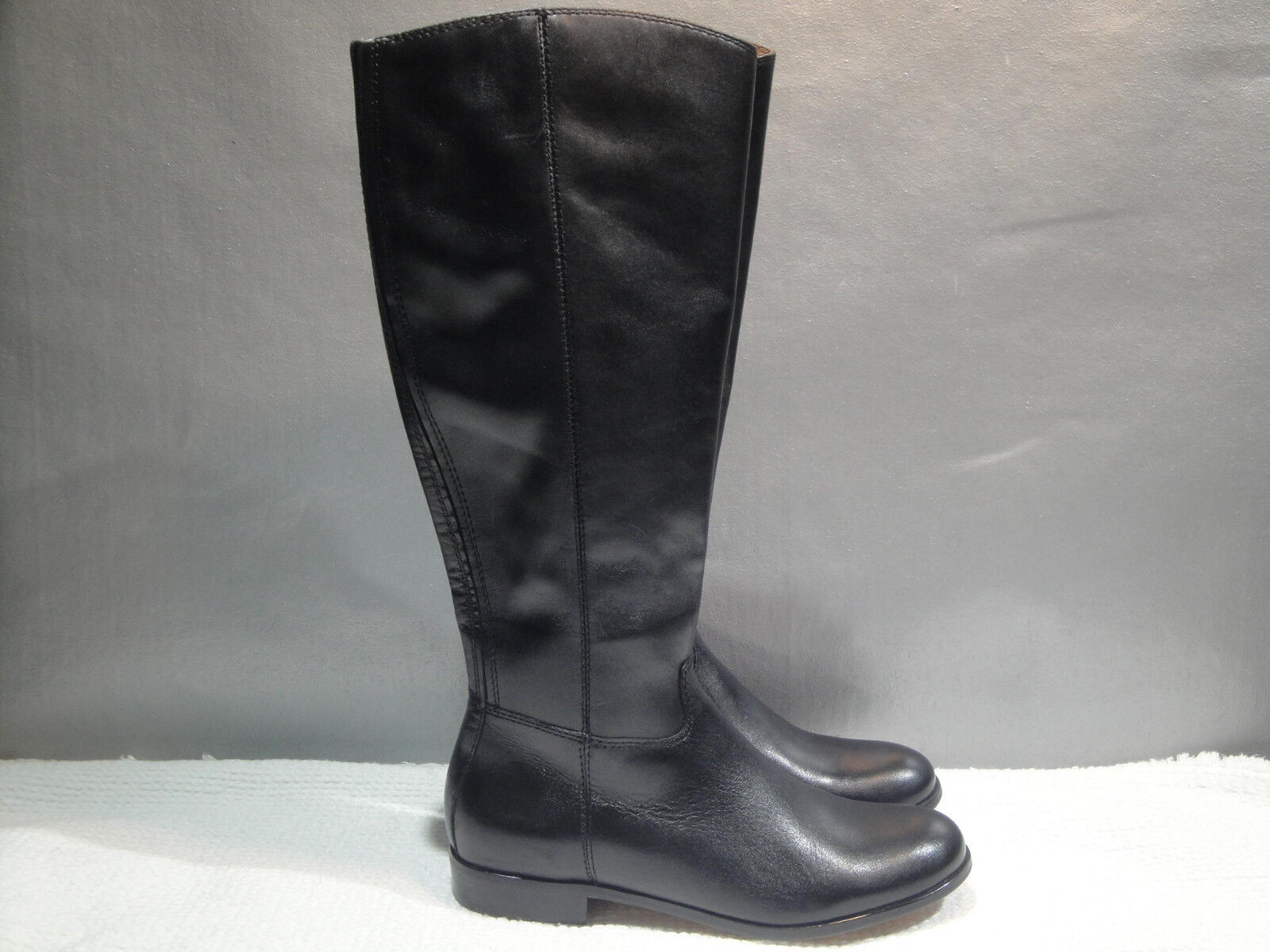 WOMENS NEW 6 CORSO COMO CLASSICS BLACK KNEE-HIGH TALL ZIPPER RIDING BOOTS